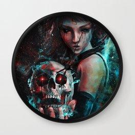 Skull Mage Dark Fantasy Original Character Painting Wall Clock