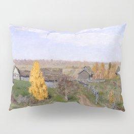 Isaac Levitan - Golden Autumn, Slobodka (1889) Pillow Sham
