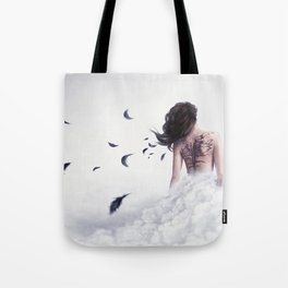 And I Shall Spread My Blackened Wings Tote Bag