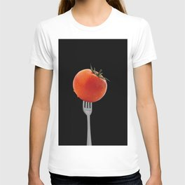 Fork with tomato - black T-shirt