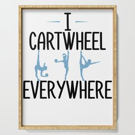 Gymnastics Cartwheel Everywhere Gymnasts Serving Tray