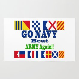 Go Navy, Beat Army in Signal Flags Rug