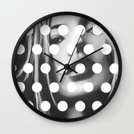 Kate Moss x Dots by Moe Notsu Wall Clock