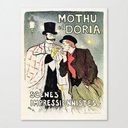 Mothu et Doria Canvas Print