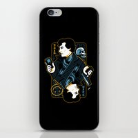 221b iPhone & iPod Skins featuring The Detective of 221B by WinterArtwork