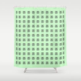 chinese ideogram : the tea 3 Shower Curtain