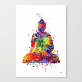 Buddha Watercolor Yoga Poster Zen decor Canvas Print