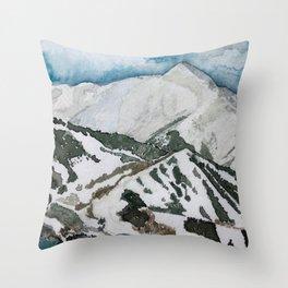 Snowmass Ski Area Watercolor Throw Pillow