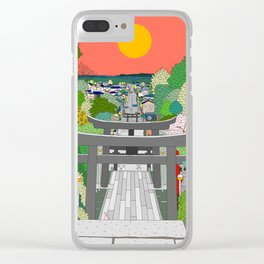 Passage to Light - Miyajidake Shrine Clear iPhone Case