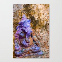 Ganesha purple Canvas Print