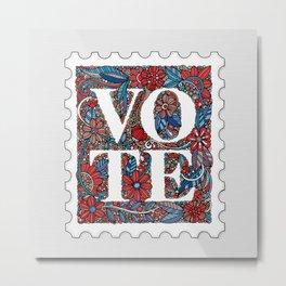 Vote Stamp Metal Print