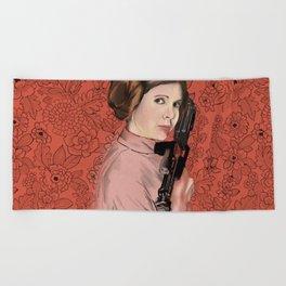 Princess Leia from StarWars Beach Towel