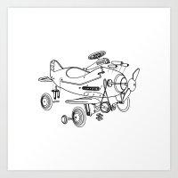 yowamushi pedal Art Prints featuring Pedal Plane by Mobii