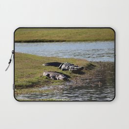Big And Huge Alligators Laptop Sleeve