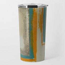 Soft And Bold Rothko Inspired - Corbin Henry Modern Art - Teal Blue Orange Beige Travel Mug