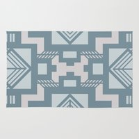 gatsby Area & Throw Rugs featuring gatsby blue by Kozza