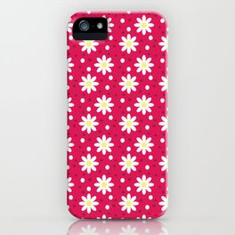 daisy dots light red iPhone Case