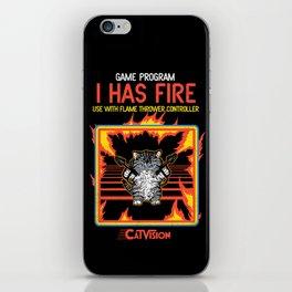 I Has Fire iPhone Skin