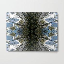 Vitruvian Tree Metal Print