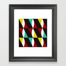 Red, Yellow & Blue Twist Framed Art Print