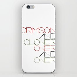 Crimson and Clover Over and Over iPhone Skin
