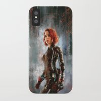 black widow iPhone & iPod Cases featuring Black Widow by Wisesnail