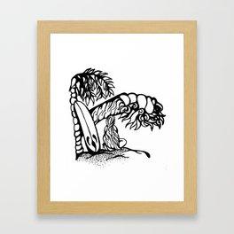 Surfer Girl Waiting Framed Art Print