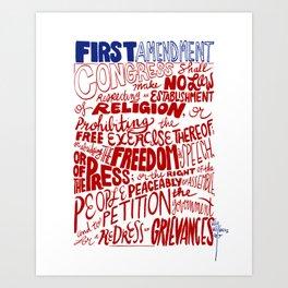 The First Amendment Art Print