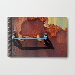 Rusting Boxcar Ladder Rung Abandoned Fine Art Photography Rusty Metal Railcar Railroad Rolling Stock Metal Print
