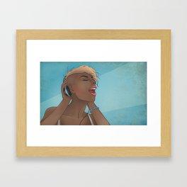 Music is my lover Framed Art Print