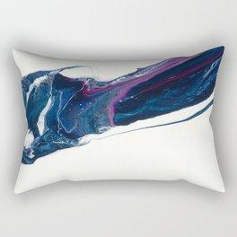 Walk on water abstract fluid art design, white blue purple Rectangular Pillow