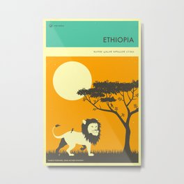 ETHIOPIA TRAVEL POSTER Metal Print