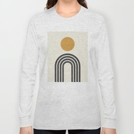 Mid century modern gold Long Sleeve T-shirt