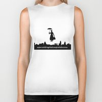 mary poppins Biker Tanks featuring mary poppins by cubik rubik
