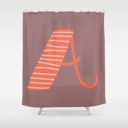 Letter A Monogram Art Print Shower Curtain