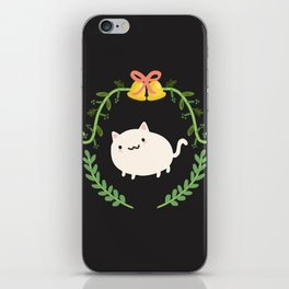 Wreath + Cat iPhone Skin