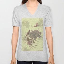 Tropical Hummingbirds Unisex V-Neck