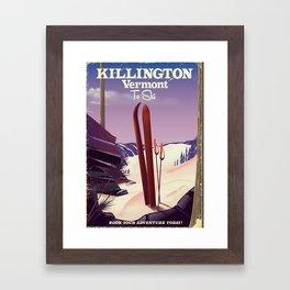 Killington, Vermont to ski Framed Art Print