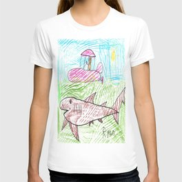 Zodiac over a Greenland Shark T-shirt