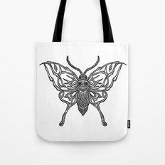 Skeleton Moth Tote Bag