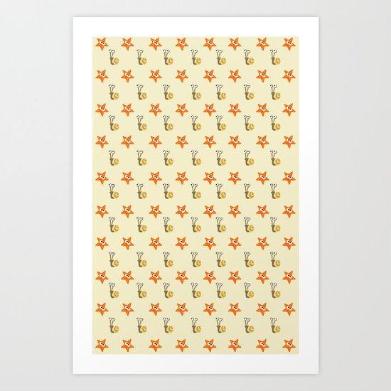 Stars&Snails Art Print