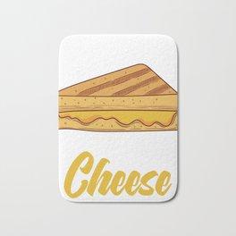 """Team Grilled Cheese"" Baking Design For Bakers T-shirt Design Fork Knife Cherry Cake Dessert Buttons Bath Mat"