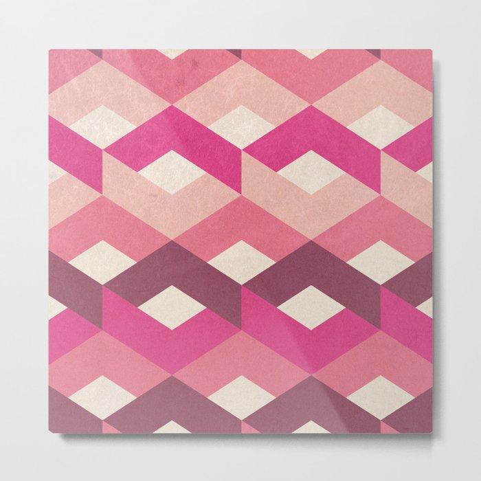 Pink Fancy Pattern Metal Print