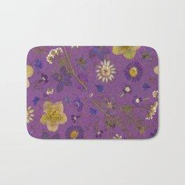 Purple dark floral Bath Mat