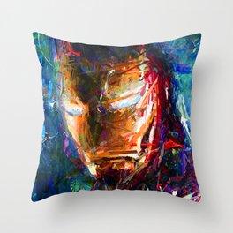 BRUSH STROKE IRONMAN Throw Pillow