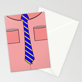 Pink shirt and tie Stationery Cards