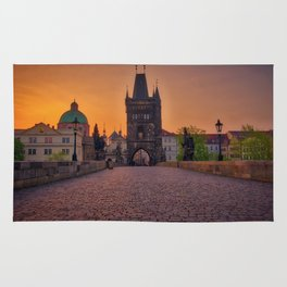 Charles Bridge Prague Czech Republic Rug