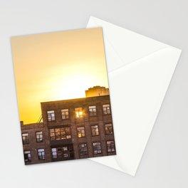 Sunrise through Building Windows Stationery Cards