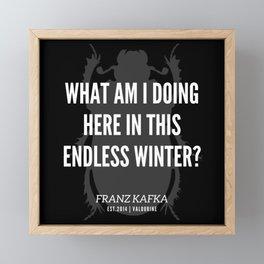 48 |  Franz Kafka Quotes | 190517 Framed Mini Art Print