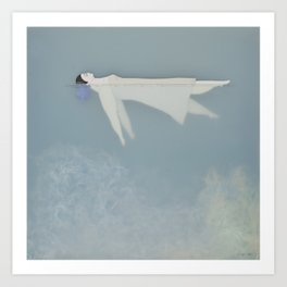 Afloat (Water Woman X) Art Print